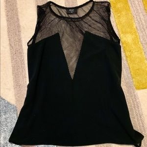 Black mesh Nasty Gal blouse